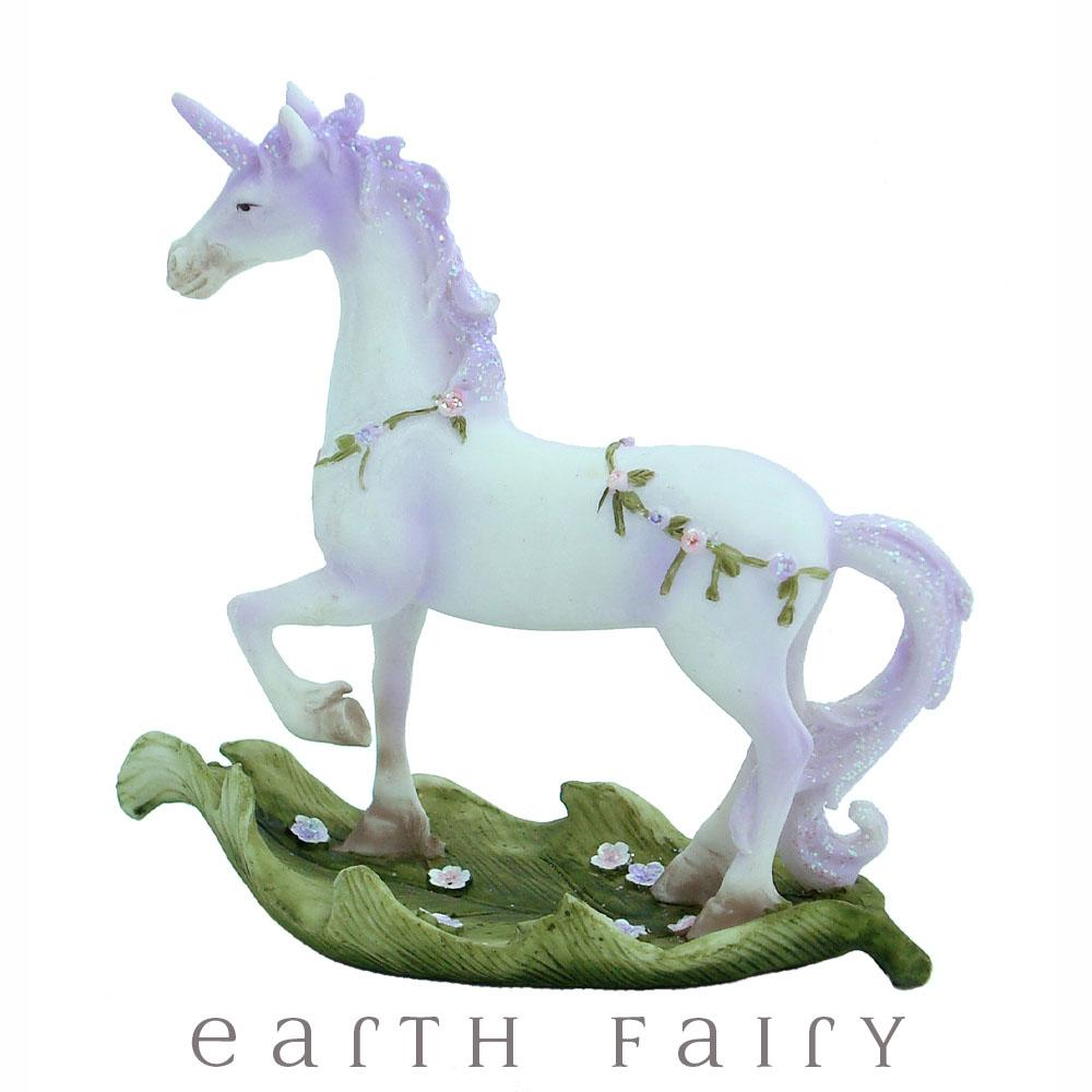 Unicorn Prancing on a Leaf