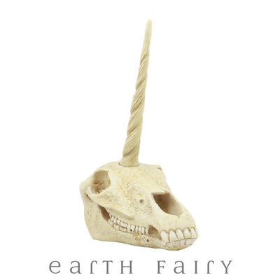 Unicorn Skull, Front View, from The Unicorn Figurine Colleciton by Earth Fairy