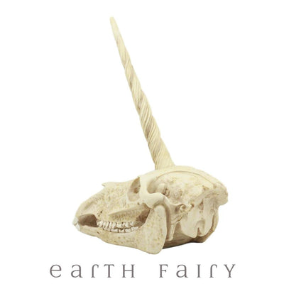 Unicorn Skull, Side View, from The Unicorn Figurine Colleciton by Earth Fairy
