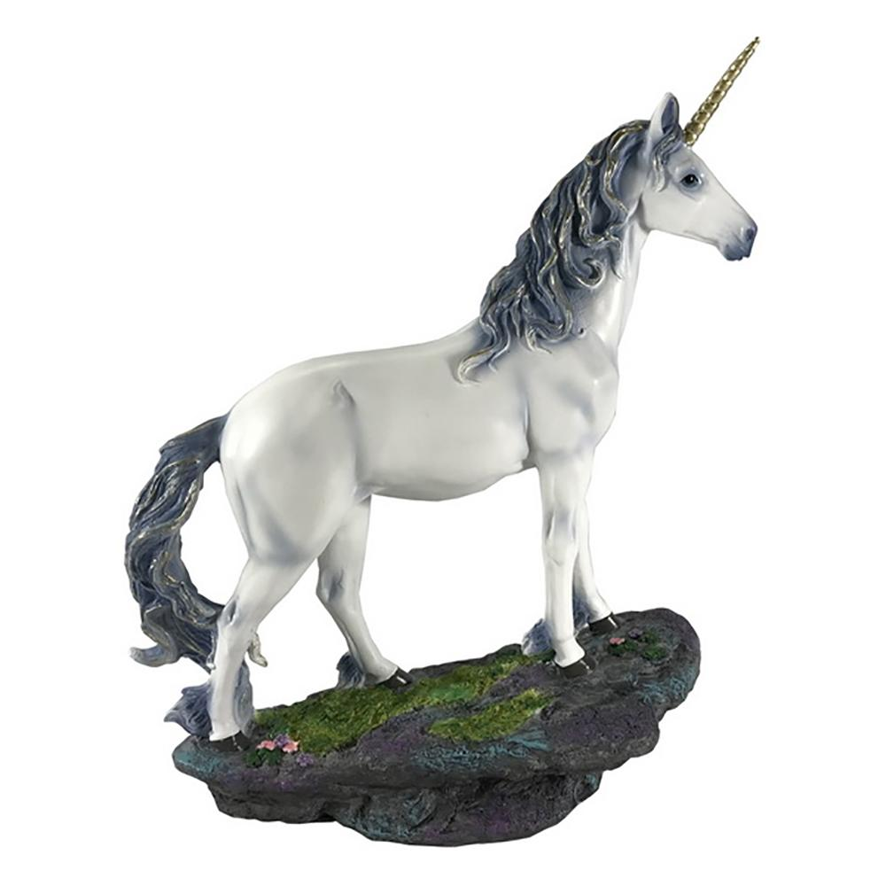 Unicorn Standing on a Cliff Base - Fairy Garden Figurines - Earth Fairy