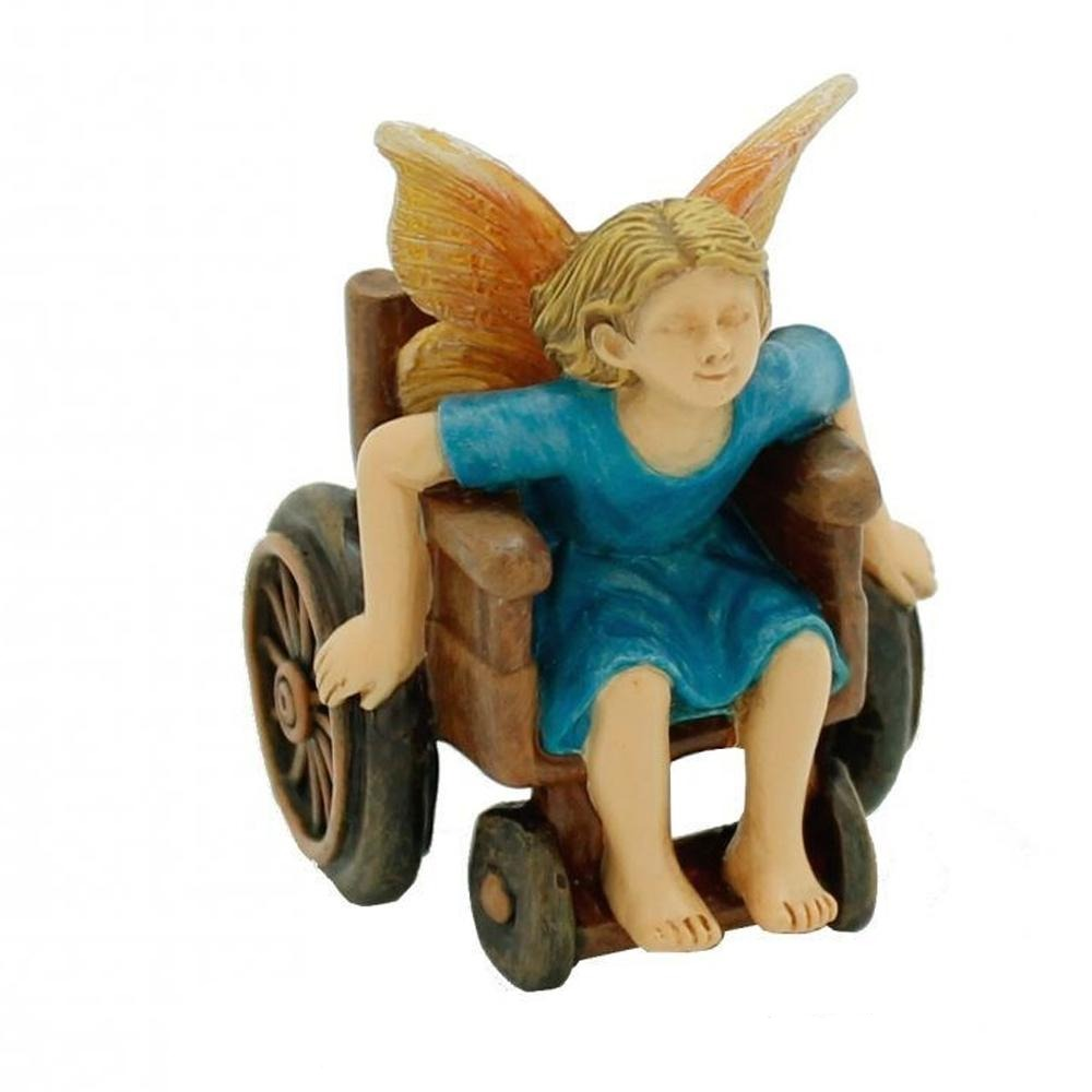 Wheelchair Racer Figurine from The Miniature Fairy Garden Figurine Collection by Earth Fairy