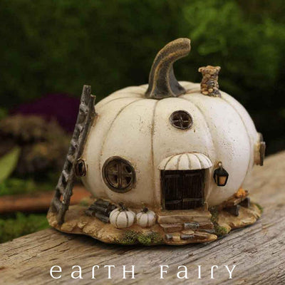 White Pumpkin Fairy House | Fairy Houses - Australia | Earth Fairy