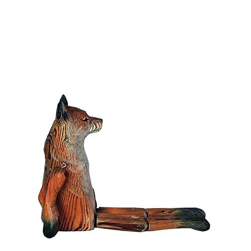 Whittled Woodland Fox Shelf Sitter | Fairy Gifts & Decor | Earth Fairy