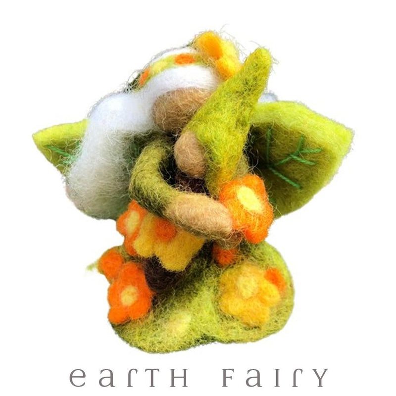 Wildflower Faerymother, Large, from The Hand Felted Wool Toy Collection by Earth Fairy