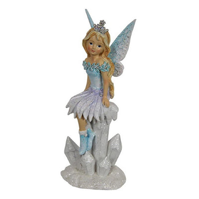 Winter Fairy - Sitting on Icicles - Icy Blue | Fairy Figurines - Australia | Earth Fairy