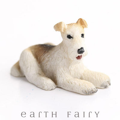 Wire Hair Fox Terrier from The Fairy Garden Miniature Animal Collection by Earth Fairy