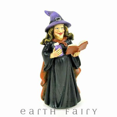 Witch Casting a Spell Miniature Figurine, from the Halloween Fairy Garden Figurine Collection by Earth Fairy