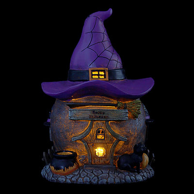 Witch's Hat House - At Night | Fairy Garden Houses | Earth Fairy