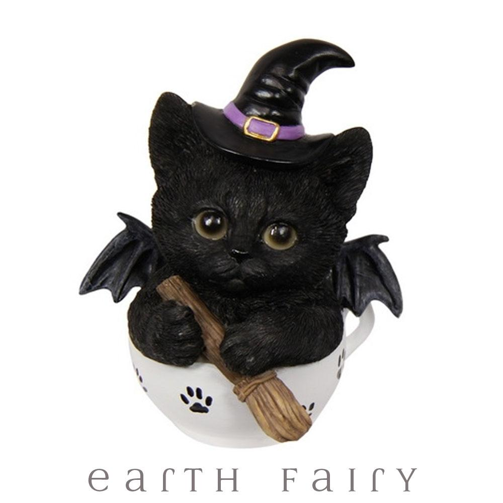 Witchy Kitten in a Teacup | Fantasy Gifts - Australia | Earth Fairy