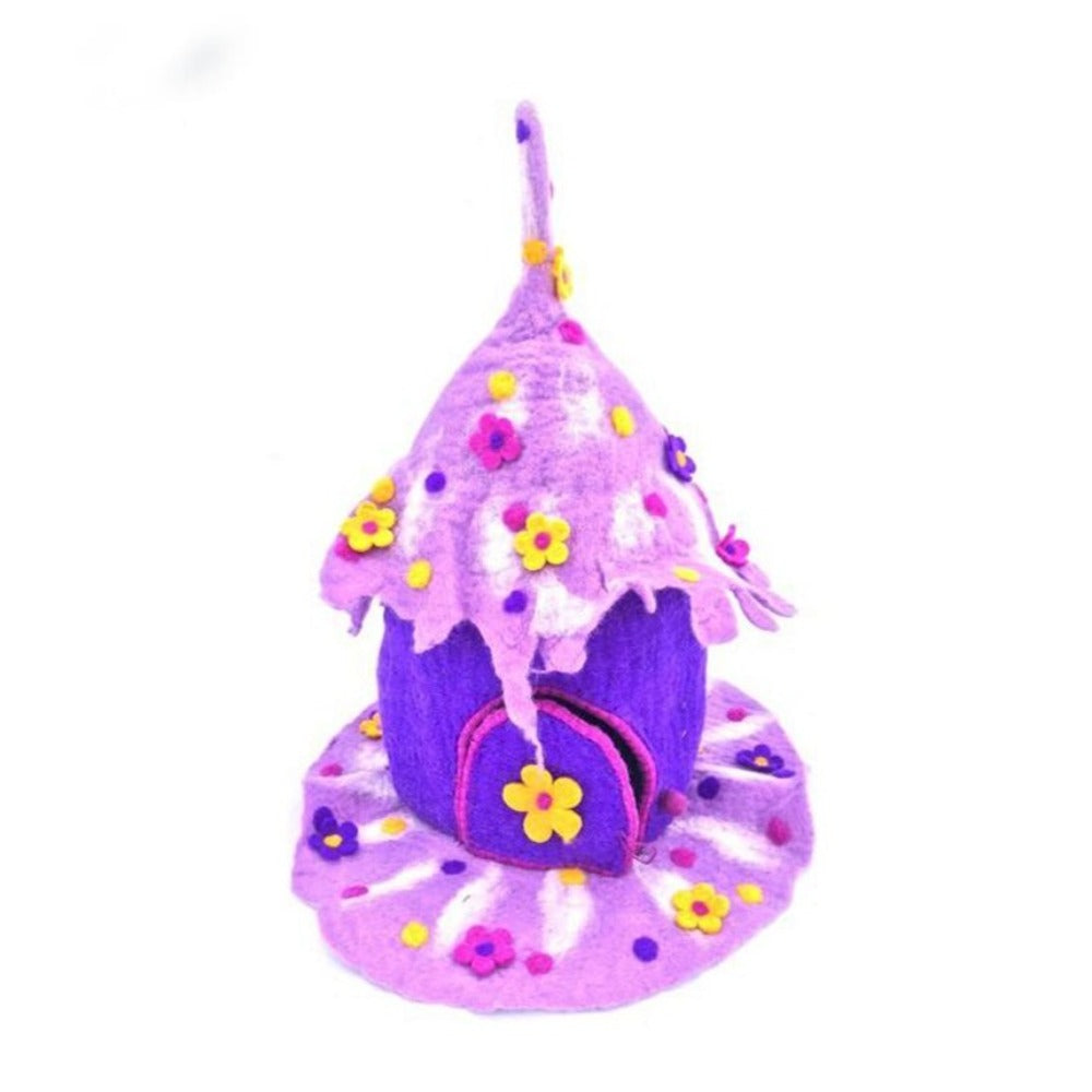 Wonder Faery Home - Purple - Super Large  | Hand Felted Wool Toys - Australia | Earth Fairy