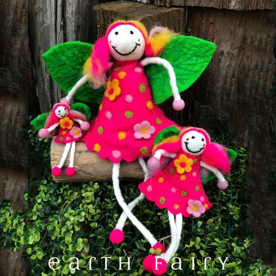 Wonder Faery - Pink | Fairy Play - Felt Toys Australia | Earth Fairy