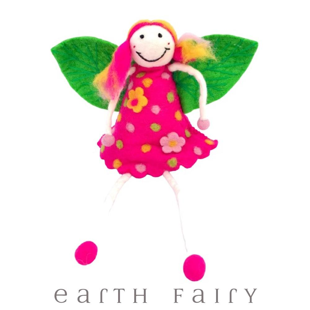 Wonder Faery, Pink, Super Large, from The Hand Felted Wool Toy Collection by Earth Fairy