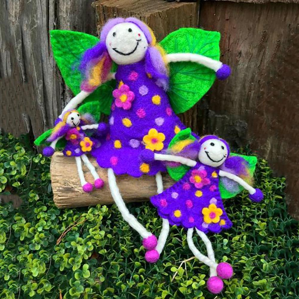 Wonder Faery - Purple | Fairy Play - Felt Toys Australia | Earth Fairy