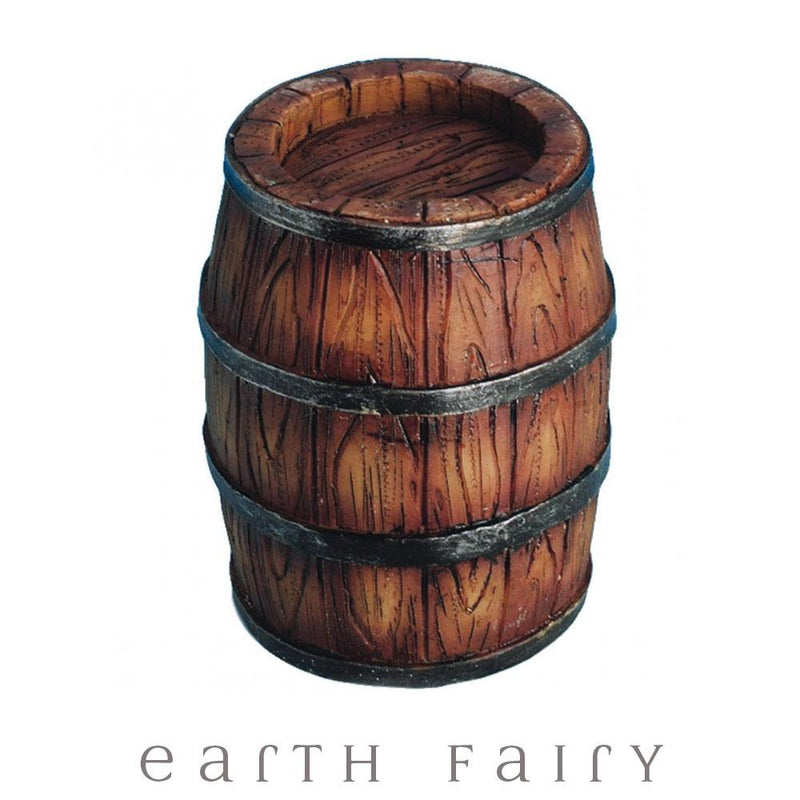Wooden Barrel | Fairy Garden Miniatures & Collectibles - Australia | Earth Fairy