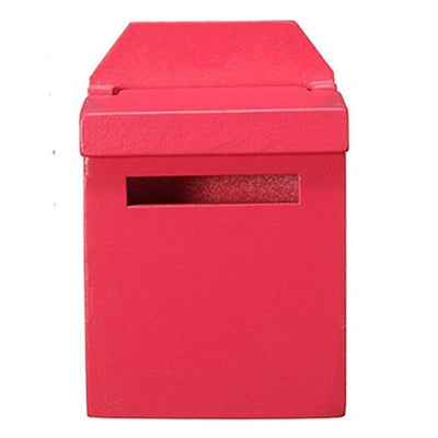 Fairy Doors Wooden Fairy Mail Box Dark Pink Earth Fairy