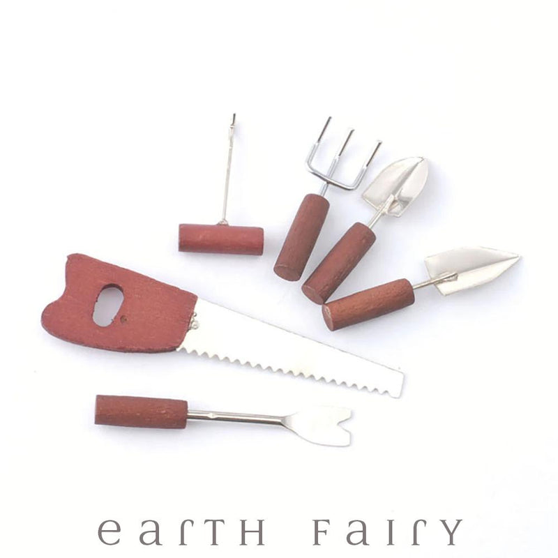 Wooden Handled Garden Tools - 6pc Set