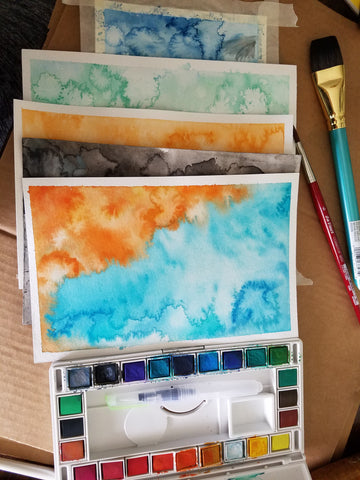 Bubble and Geek's first watercolor art for candle labels