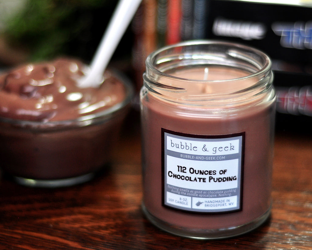 112 Ounces of Chocolate Pudding Scented Soy Candle Jar
