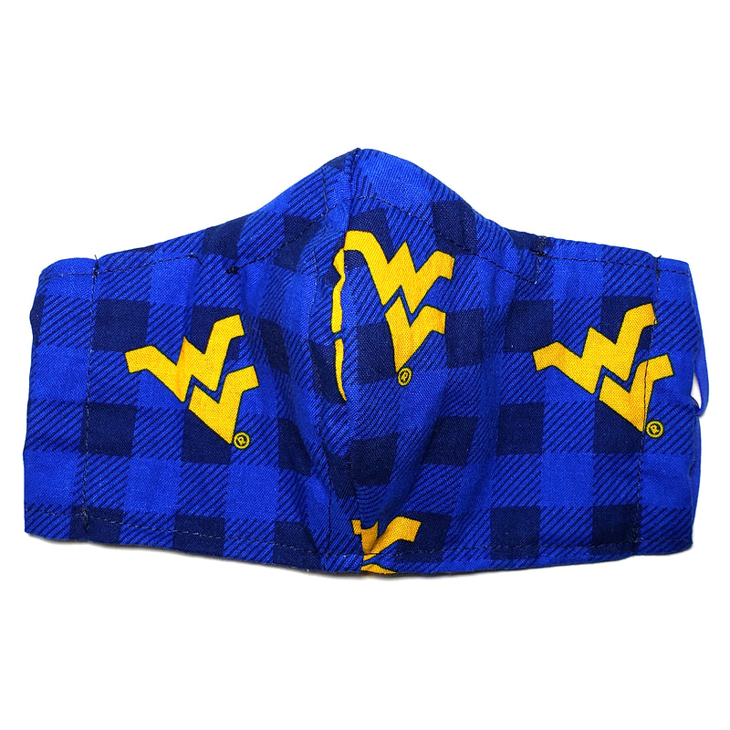 Flying WV Buffalo Check Cotton Face Mask