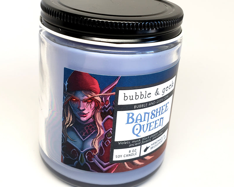 Banshee Queen Scented Soy Candle Jar