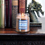 Castle Library Scented Soy Candle Jar