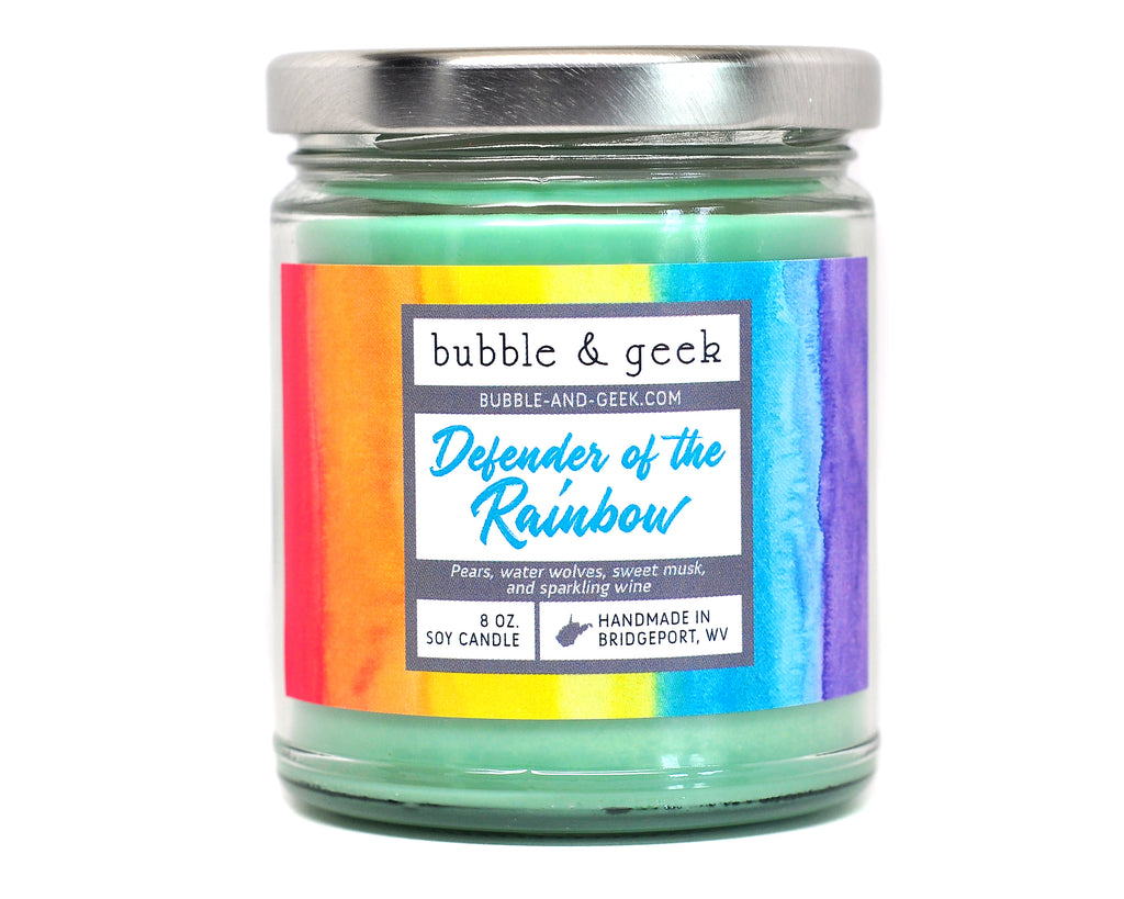 Defender of the Rainbow Scented Soy Candle Jar