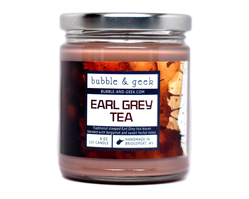 Earl Grey Tea Scented Soy Candle Jar