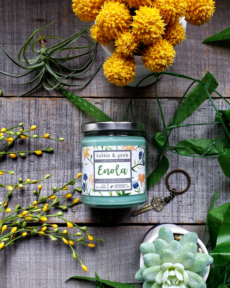 Enola Scented Soy Candle Jar