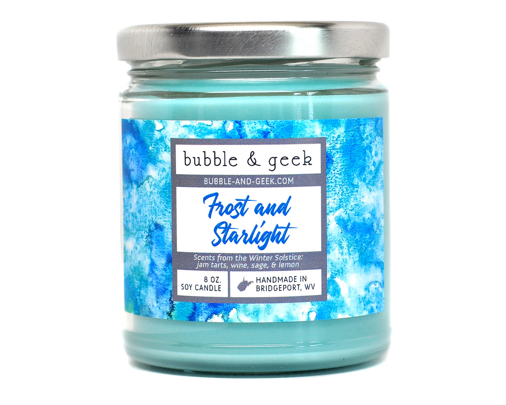Frost and Starlight Scented Soy Candle Jar