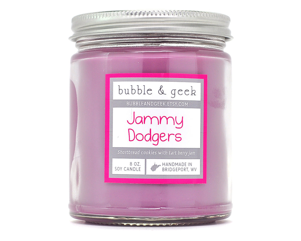 Jammy Dodgers Scented Soy Candle Jar