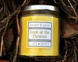 Look at the Flowers Scented Soy Candle Jar
