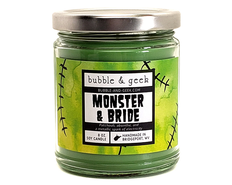 Monster and Bride Scented Soy Candle Jar