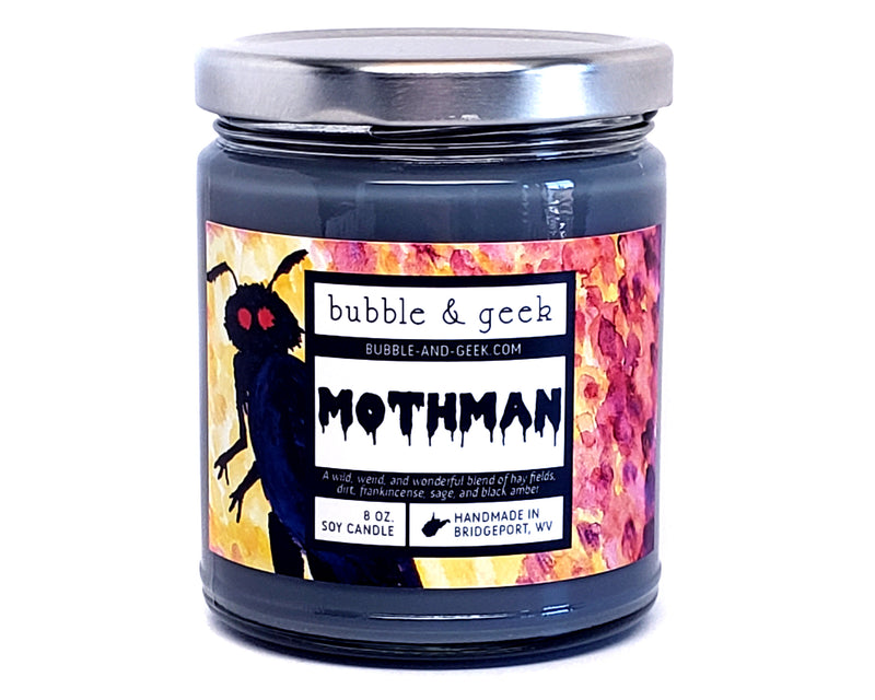 Mothman Scented Soy Candle Jar