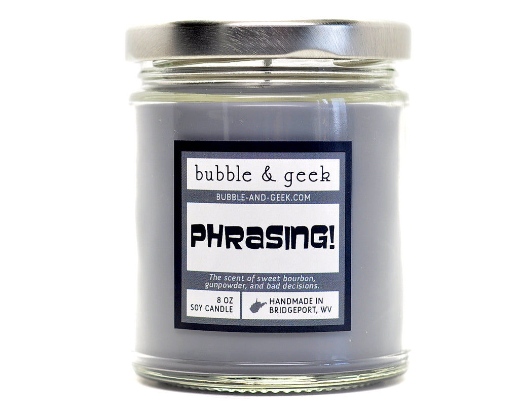 Phrasing! Scented Soy Candle Jar