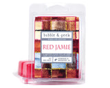 Red Jamie Scented Soy Candle Jar