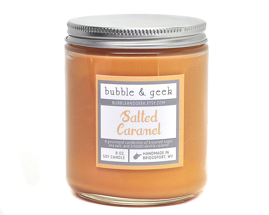 Salted Caramel Scented Soy Candle
