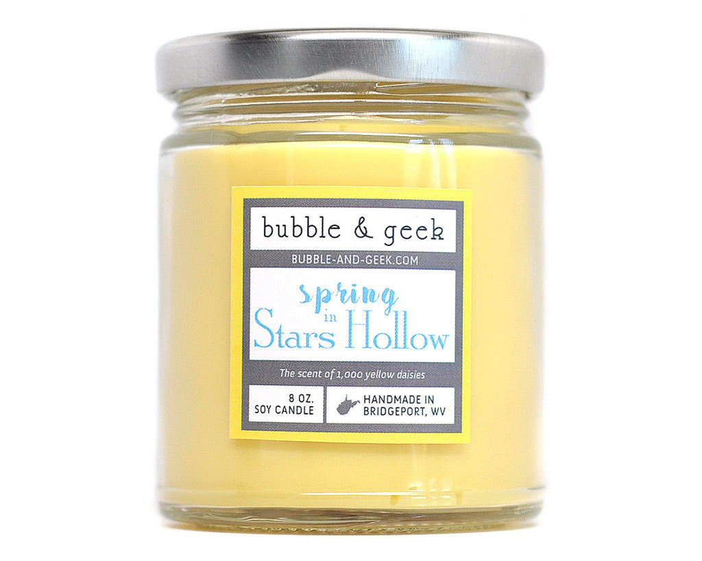 Spring in Stars Hollow Scented Soy Candle Jar