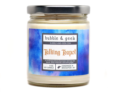 Talking Teapot Scented Soy Candle Jar
