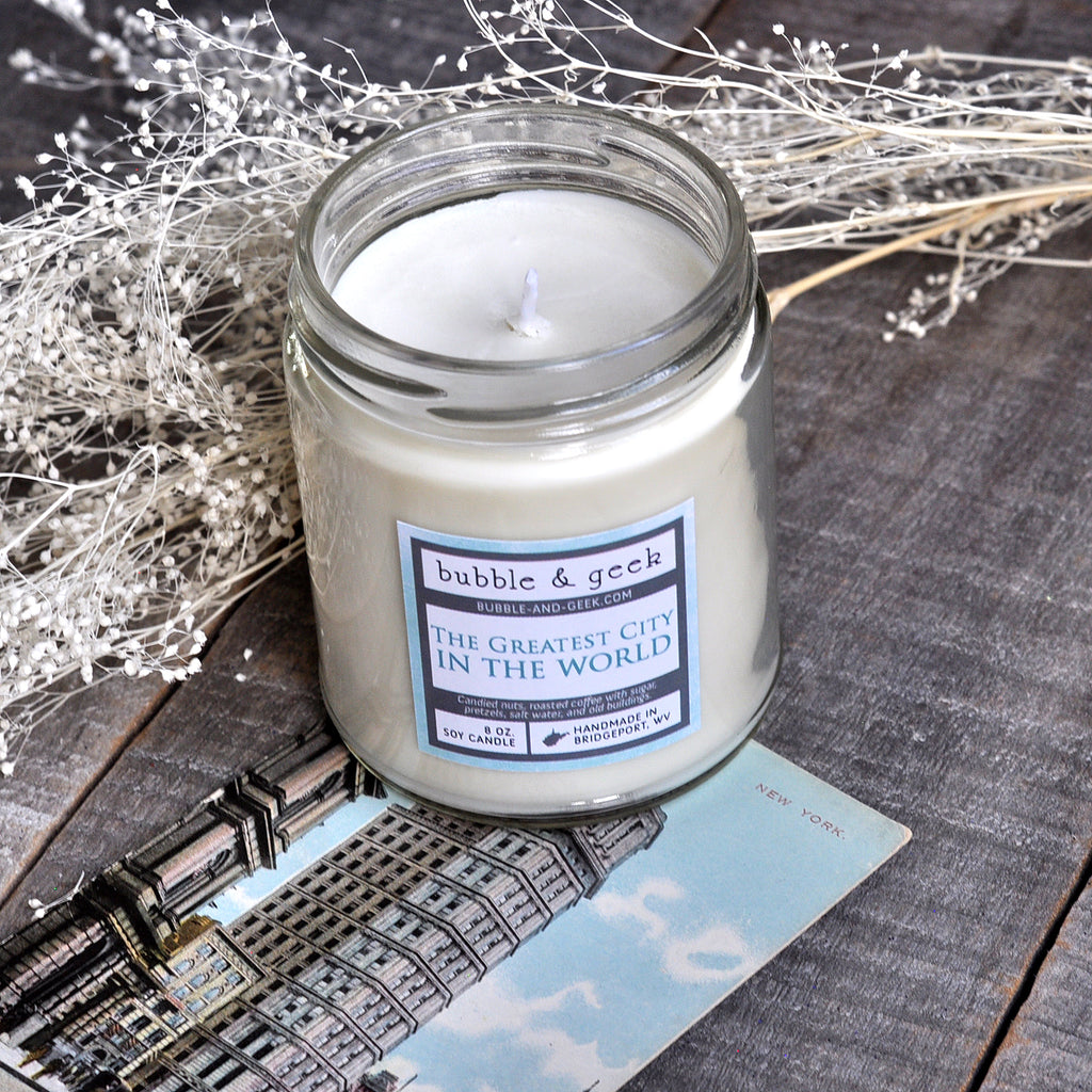 The Greatest City in the World Scented Soy Candle Jar