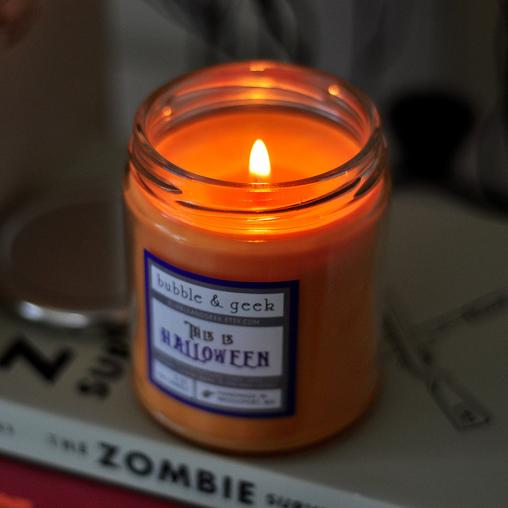 This is Halloween Scented Soy Candle Jar