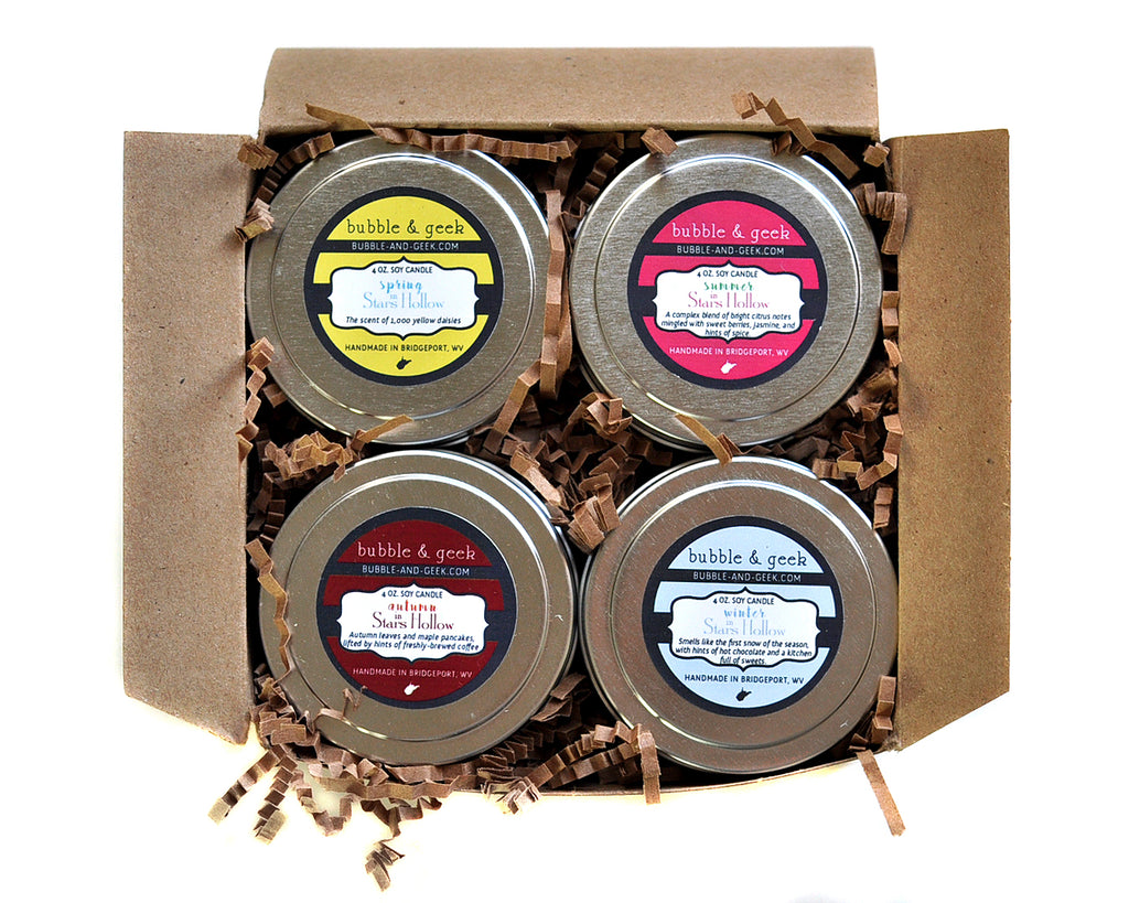 Four Seasons in Stars Hollow Candle Tin Gift Set