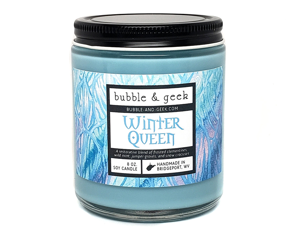 Winter Queen Scented Soy Candle Jar