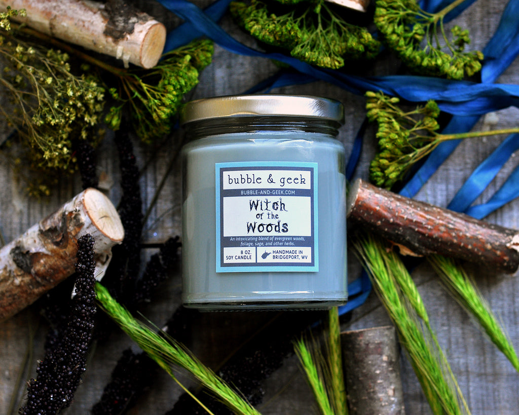 Witch of the Woods Scented Soy Candle Jar