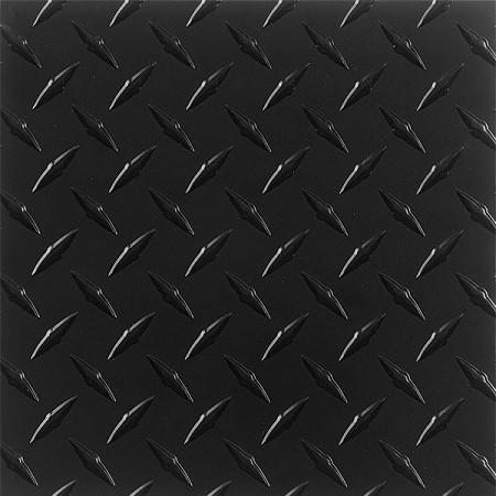 "Diamond Plate ( DP ) Rubber Flooring - Black 8'2"" (By the Foot)"