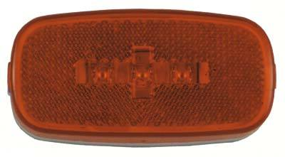 "Jammy, Inc. 4""x2"" Amber Lens Amber LED, 3-diode Clearance/Marker Snap Cap Reflectorized RV/Camper/Trailer Light J-625-A"