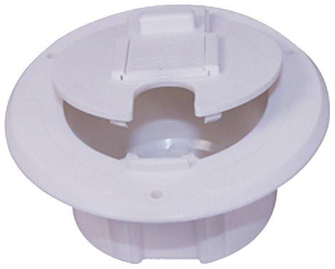 RV Electrical Cable Hatch- White