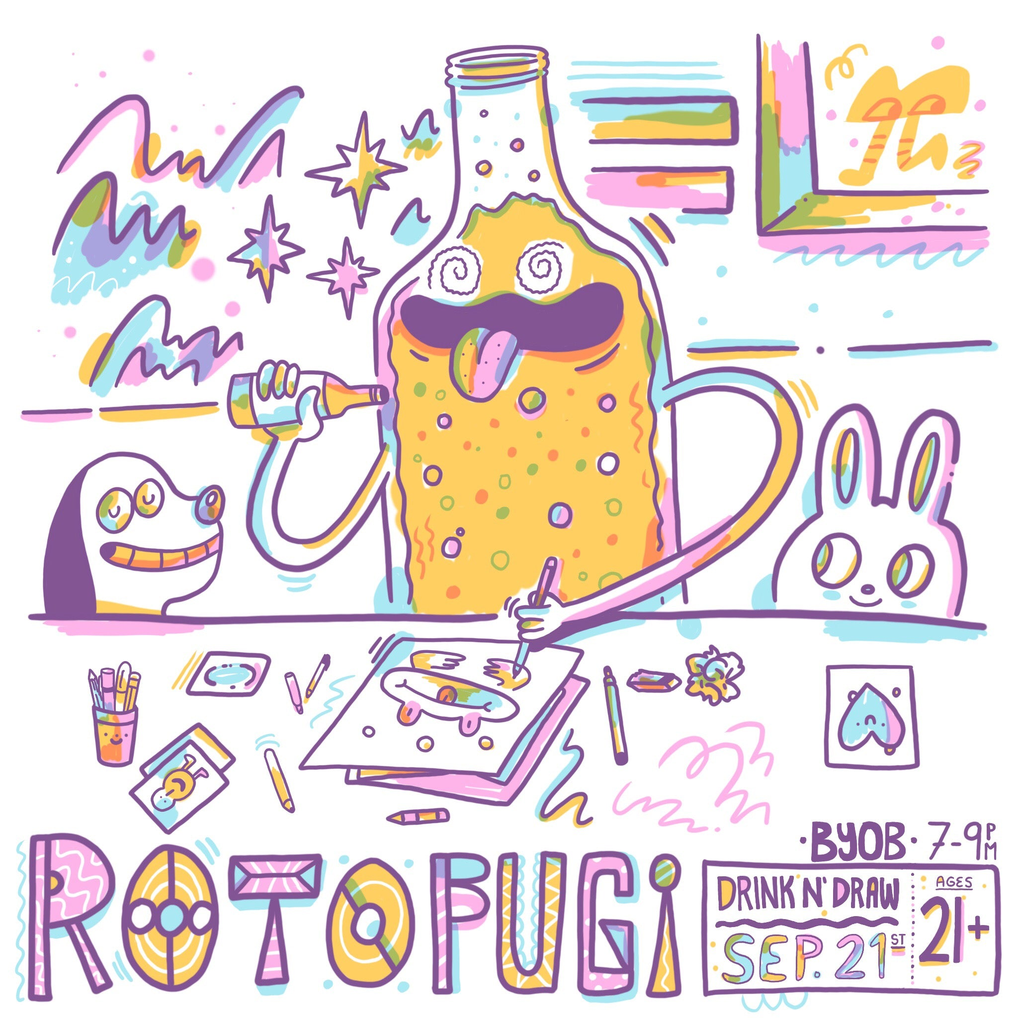 Rotofugi Drink n' Draw September 21, 2017