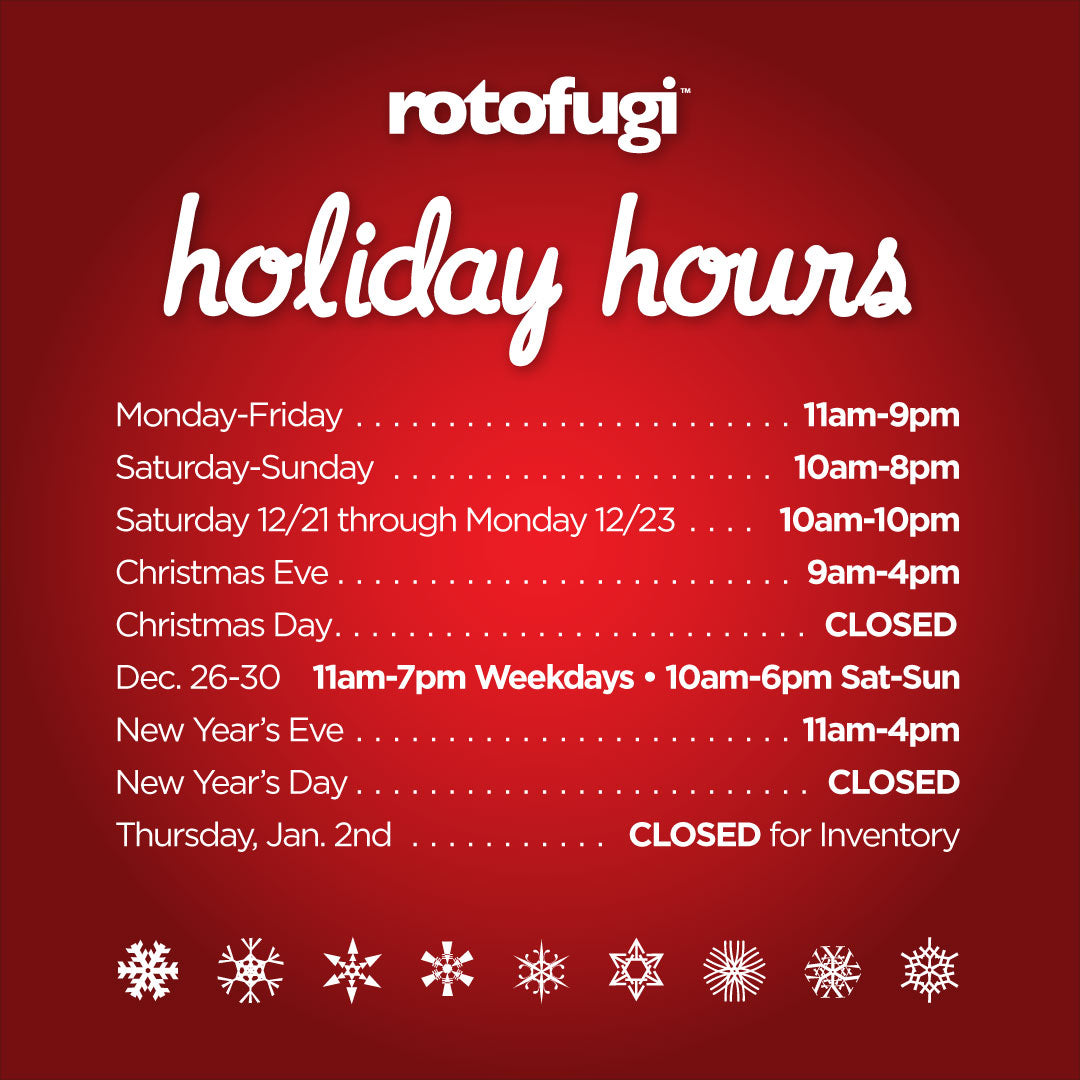 Rotofugi 2019 Holiday Hours