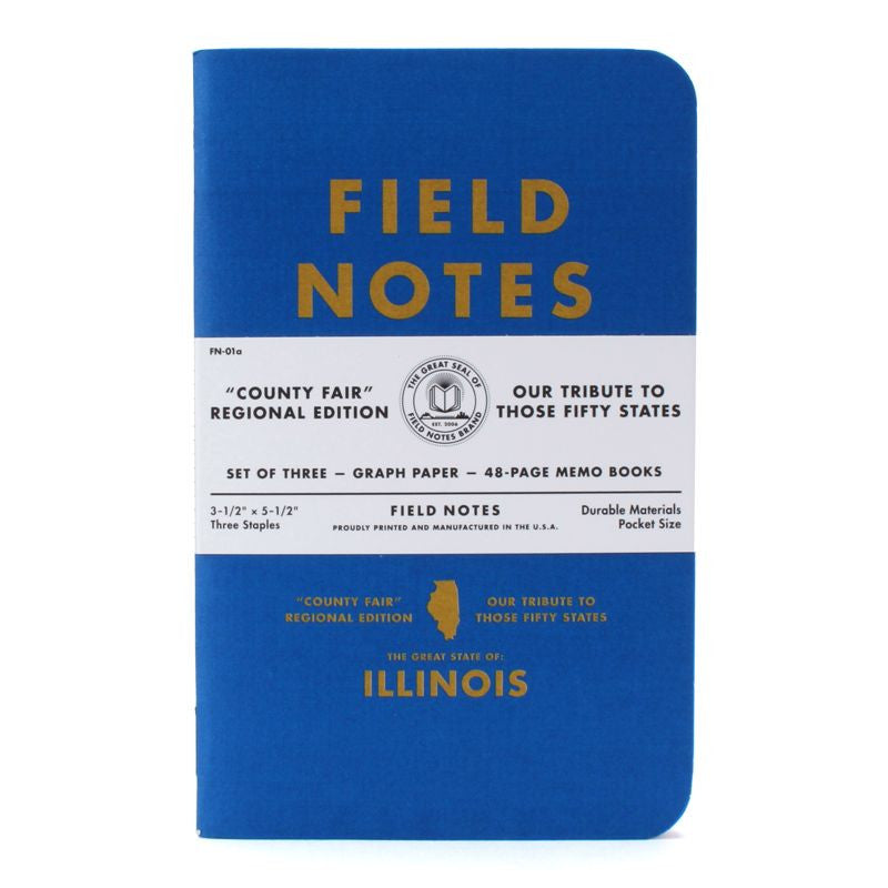 Field Notes County Fair Illinois 3-Pack