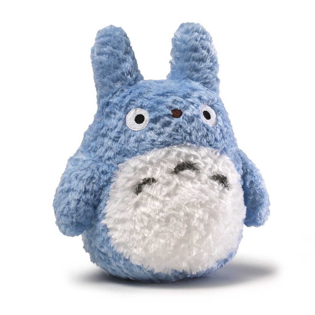 Fluffy Blue Totoro Plush - 8 Inches